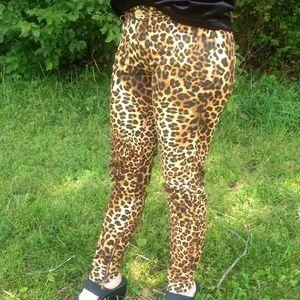 Zara Trafaluc Leopard Ankle Zip Skinny Pants MMXII